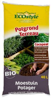 Terreau Potager Cocopeat 40 L  BIO Ecostyle ** Idéal pour les bacs potager **