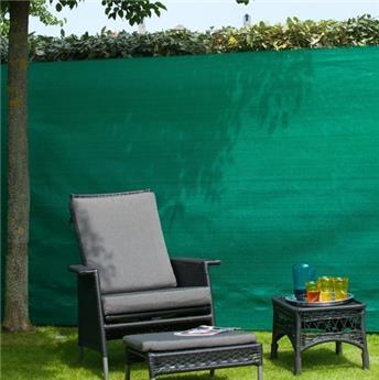 Natte toile verte brise vue 1.5 x 10 M avec set de fixation - HDPE,  occultation 95%, 190 g/m²