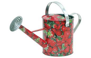 Arrosoir zinc 5 l motif fraises