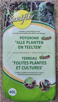 Sani Terreau toutes cultures Bio 40 l
