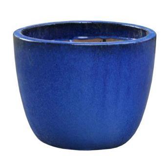 Pot oeuf émaillé D 21 H 18cm bleu (VDG)