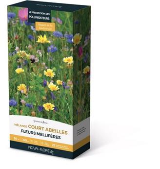 Prairie Fleurie Abeilles 200 g 30 M² plantes courtes Nova Flore