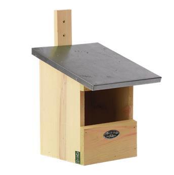 Nichoir à rouge gorge en bois FSC toit zinc