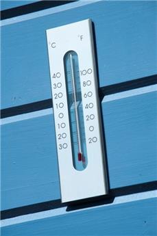 Thermometre aluminium h 23 cm
