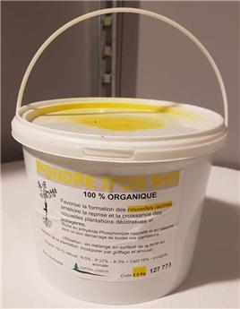 CJR Poudre d´os Bio 2.5 kg en seau recyclable