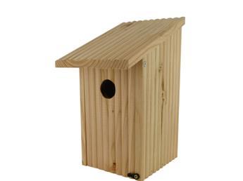 Nichoir Cabin en bois naturel