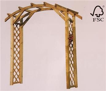 Arcade pergola H240 / l120 / prof.60 cm bois imprégné FSC