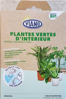 Viano Engrais soluble BIO Plantes Interieur  52 sachets