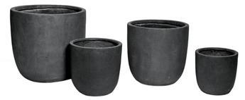 Clayfibre Egg Pot Anthracite D27H26 (Mg)