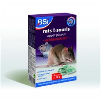 Rat et Souris appât Pâteux 15 sach. de 10g