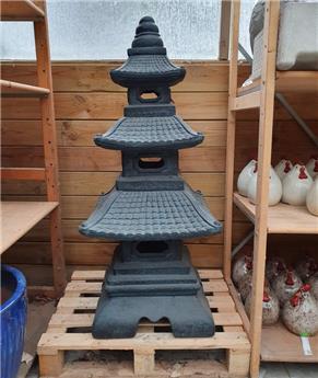 Pagode Clayfibre Grey 52/52 Ht 120 cm